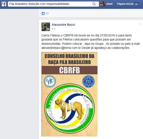 A. Bacci pede perguntas para CBRFB - 29-04-16